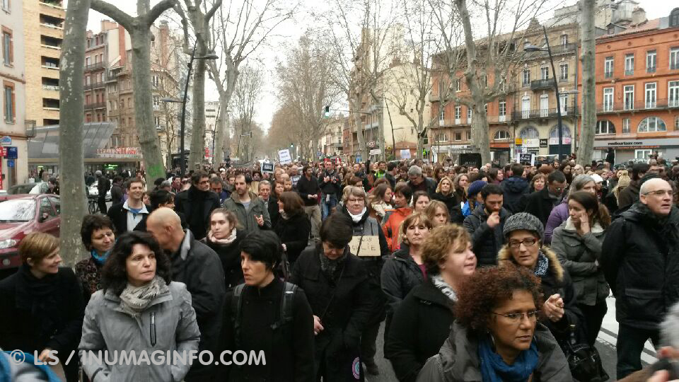 marche republicaine à Toulouse