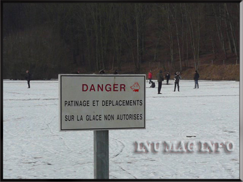 INUMAGINFO.COM Etendue d'eau gelée, Attention DANGER