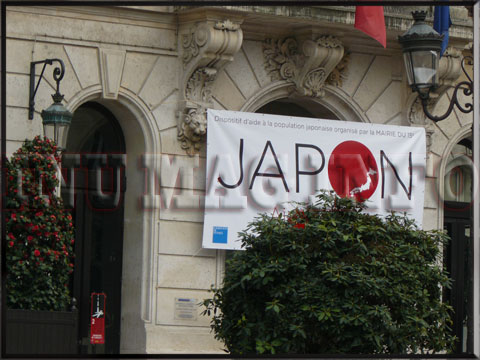 PHOTO MAIRIE XV DONS JAPON Fondation de France                              Croix Rouge Secours Populaire Secours Catholique
